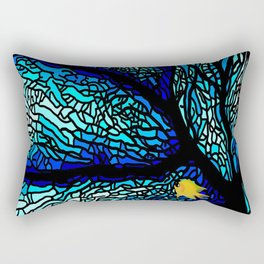sea coral stained glass Rectangular Pillow