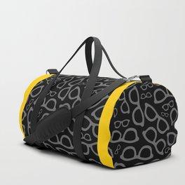Black Smart Glasses Pattern Duffle Bag