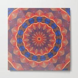 Infinite Diversities Mandala Metal Print