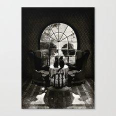 Room Skull B&W Canvas Print