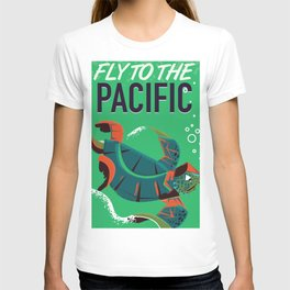Fly to the Pacific vintage travel poster T-shirt