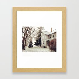 Winter Wonderland in Michigan Framed Art Print
