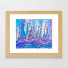 Glacier mountain Framed Art Print