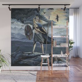 Valkyrie and Crows Wall Mural