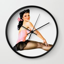Vintage Ballerina Pin Up Girl Wall Clock