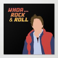 marty mcfly Canvas Prints featuring Marty McFly by Christina