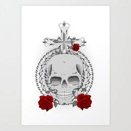 True, Death and Love Art Print