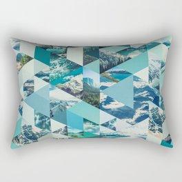 THE MOUNTAINS CALL - geometric photo collage Rectangular Pillow