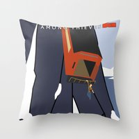 uncharted Throw Pillows featuring Uncharted 2: Among Thieves  by Chandler Payne