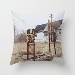 Help Your Self Throw Pillow