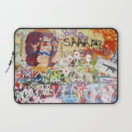Peace on Earth - Love - Because the World is Round it Turns me On Laptop Sleeve