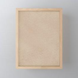 Pantone Hazelnut, Liquid Hues, Abstract Fluid Art Design Framed Mini Art Print