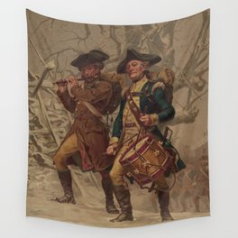 Vintage Continental Army Soldiers Painting (1875) Wall Tapestry