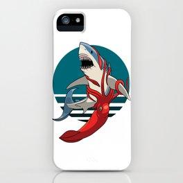 Great White Shark vs Squid iPhone Case