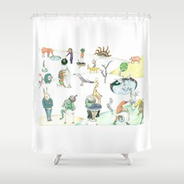 Inspired by Bosch Shower Curtain