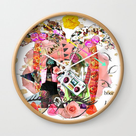 Rose-tinted Lashes In The Boom Boom Room Wall Clock