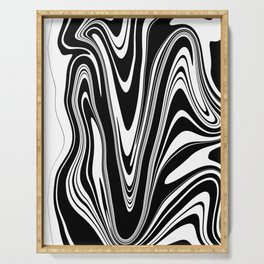 Stripes, distorted 2 Serving Tray