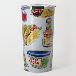 tacos burritos hot sauce and salsa Travel Mug