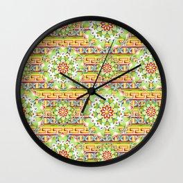 Fiesta Rainbow Mandala Wall Clock