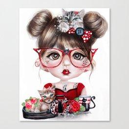 Cat Crazy Chloe - MunchkinZ Elf - Sheena Pike Art & Illustration Canvas Print