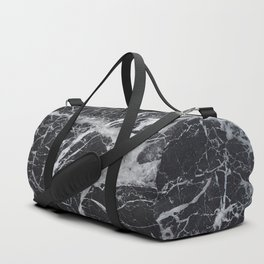 Marble - black and white Duffle Bag