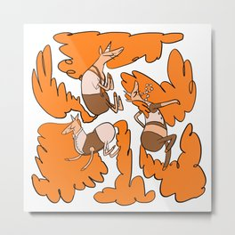 Fashion Po-Nays Orange Metal Print