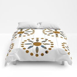African Beadwork in White by Lorloves Design Comforters
