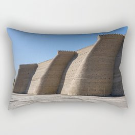 Wall of the massive Ark fortress Rectangular Pillow