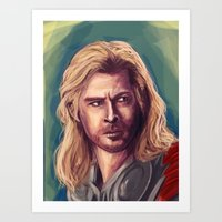 thor Art Prints featuring Thor by pandatails