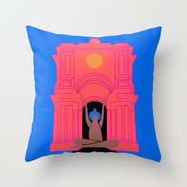 moon goddess illustration Throw Pillow