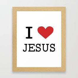 Christian,Bible Quote,I love Jesus Framed Art Print