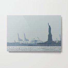 Statue of Liberty from Manhattan Metal Print