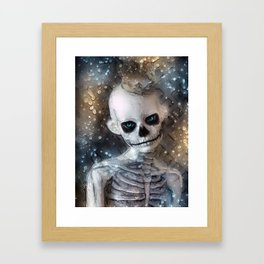 The King Skeleton Framed Art Print