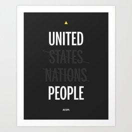 UP - United People Art Print