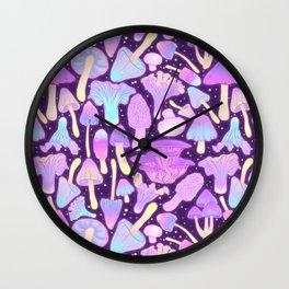 Spooky Mushroom Hunt Wall Clock