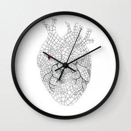 heart map Wall Clock