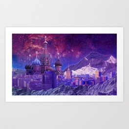 Hipsterland - Moscow Art Print