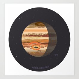 jupiter's eye Art Print