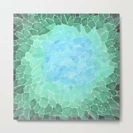 Abstract Sea Glass Metal Print