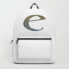 Celtic Knotwork Alphabet - Letter E Backpack