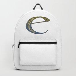 Celtic Knotwork Alphabet - Letter E Backpack