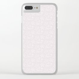 Noel Let it Snow Pink Clear iPhone Case