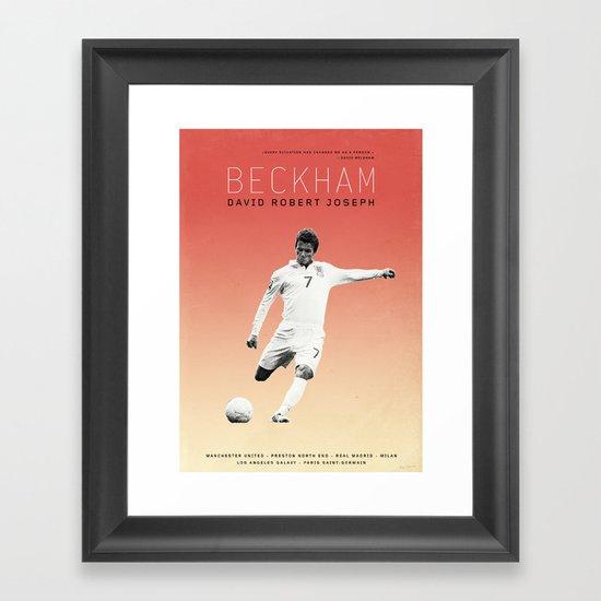 Beckham Framed Art Print