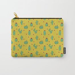 Casual Cacti on Mustard Carry-All Pouch