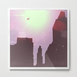 city flight Metal Print