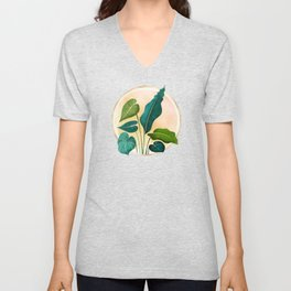 Opening Act / tropical greenery with metallic accent Unisex V-Neck