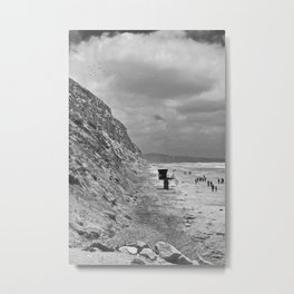 Torrey Pines, San Diego, California - Tower 1 - B&W Metal Print