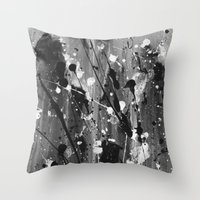 levi Throw Pillows featuring Levi by Liquid Universe Designs