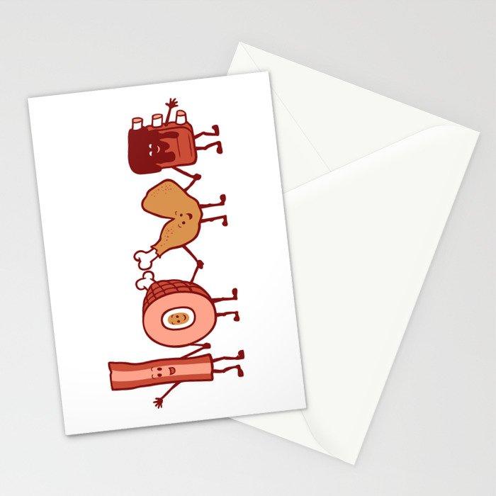 Meat Love U Stationery Cards