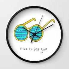 Nice To Sea You Wall Clock